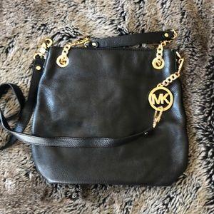Michael Kora Leather Crossbody Bag